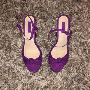 Purple Velvet heels